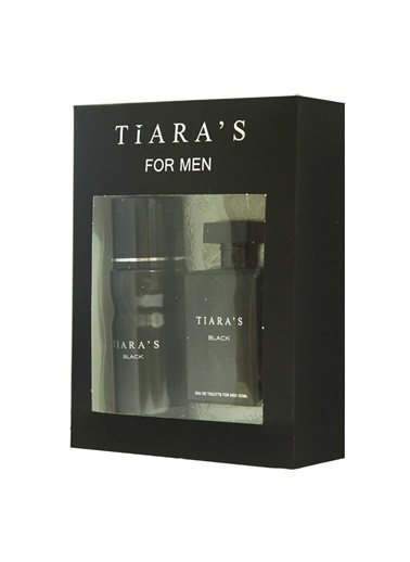 Tiaras  Black Edt 100Ml+Deo150Ml Erkek Parfüm Set Renksiz